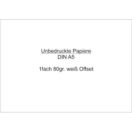 Unbedruckte Papiere DIN A5