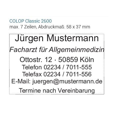COLOP Ersatzdruckplatte-SET 2600