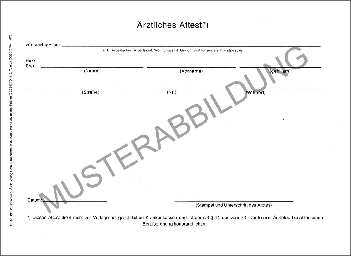 Ärztliches Attest - Deutscher Ärzteverlag GmbH