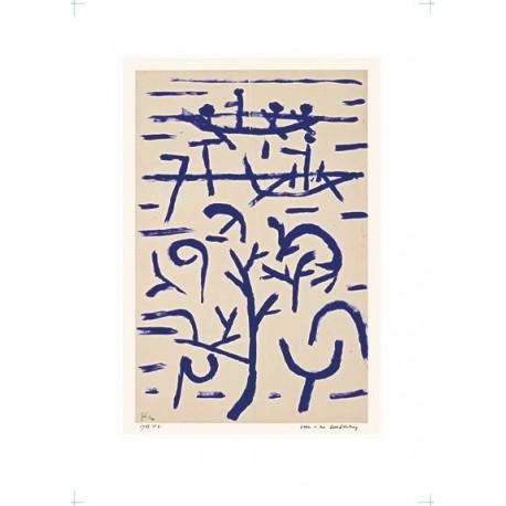 Boote in der Überflutung, 1937, 222 (V2) Paul Klee