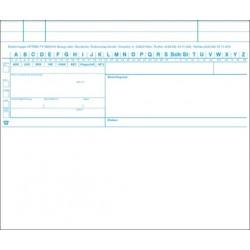 OPTIMA Karteimappe, ungefaltet, weiß/blau