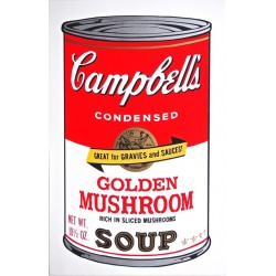 Campbell´s Soup Cans (golden mushroom) , Andy Warhol