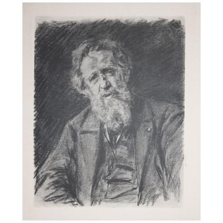 Portrait Constantin Meunier, ca. 1895, Max Liebermann