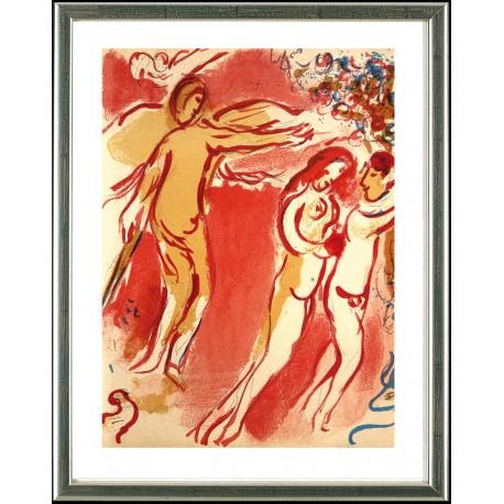 Marc Chagall, Adam und Eva – Vertreibung aus dem Paradies, 1960