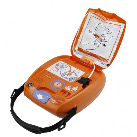 """Nihon Kohden AED 3100 + Notfalltasche """"Die Blaue"""" mit Diagnostik-Set"""
