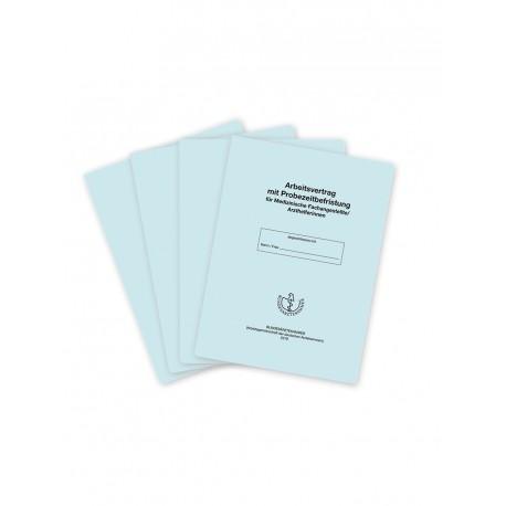 Arbeitsvertrag für Medizinische Fachangestellte/Arzthelferinnen