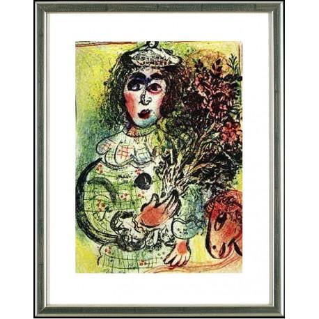 Marc Chagall, Le Clown fleuri, 1963