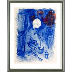 Marc Chagall, Blaues Stilleben, Paris 1957