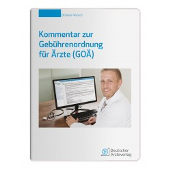 Kommentar zur Gebührenordnung für Ärzte (GOÄ) auf CD-ROM