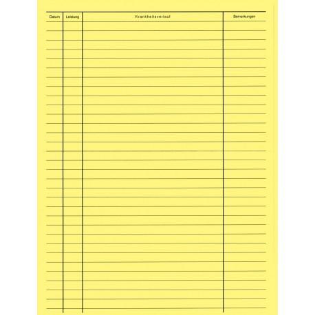 Einlagebogen für Karteimappen (farbig)