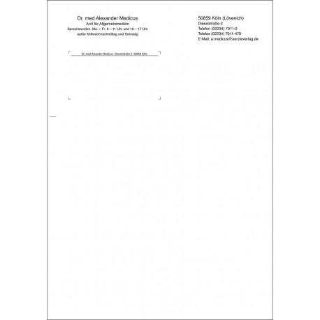 Briefbogen DIN A4, einseitig bedruckt, Layout 1