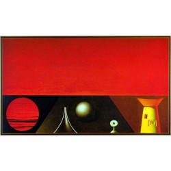Abendlandschaft, Rudolf Hausner