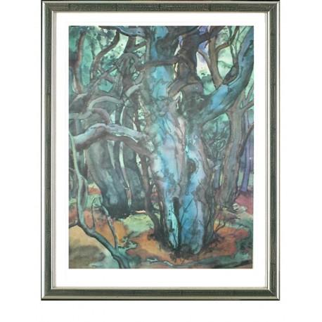 Waldlandschaft I, Günter Grass