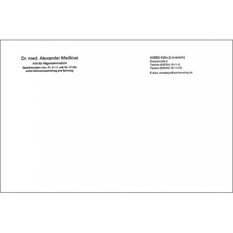 Briefbogen DIN A5, einseitig bedruckt, Layout 1